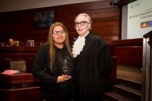 Lucinda Stewart and Justice Fullerton